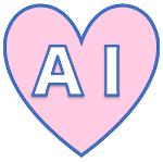 ハートに「AI」の文字